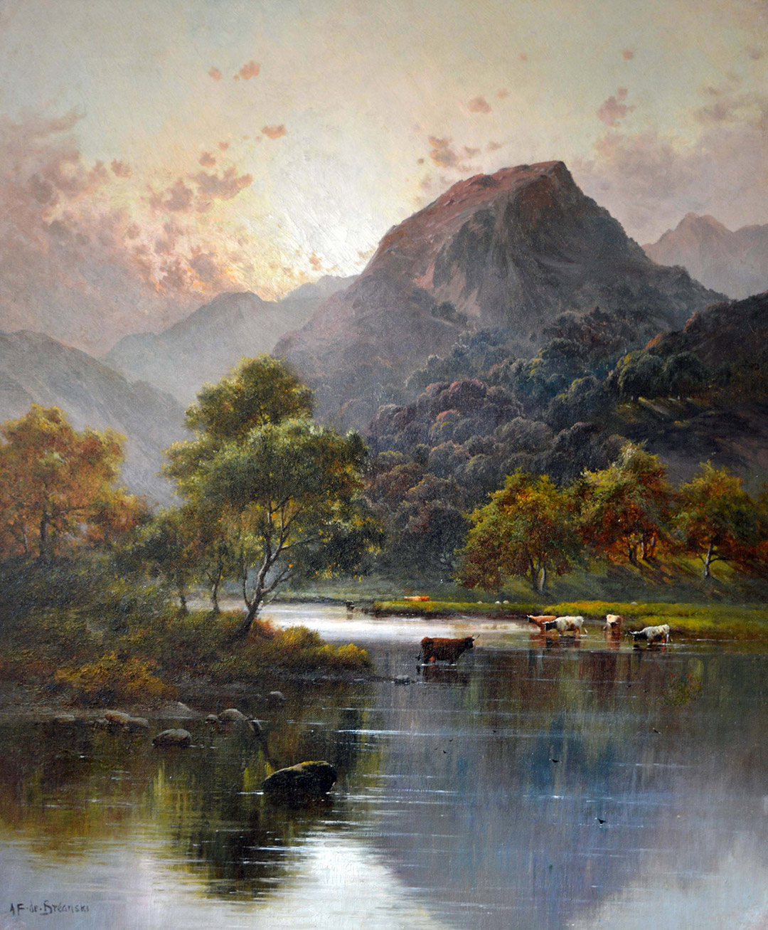 Alfred de Breanski Jnr 'Sunrise over the Peak District' Carnes Fine Art