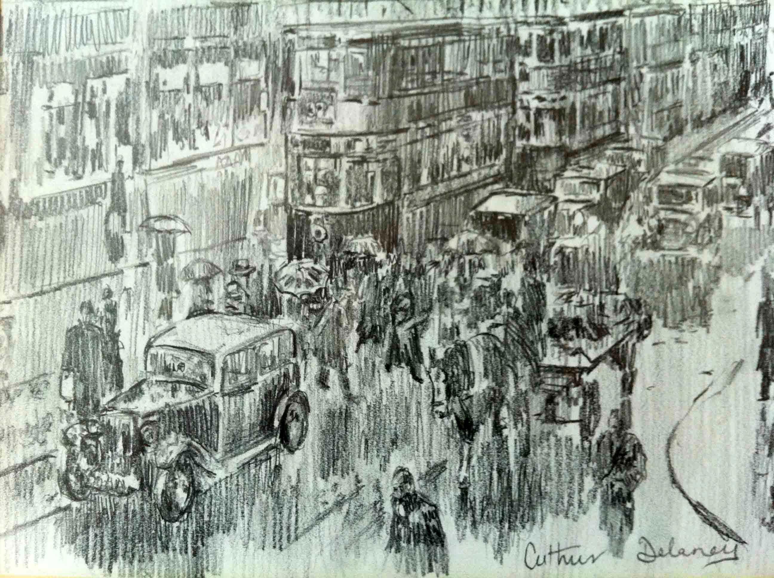 Arthur Delaney 'Market St Manchester' Carnes Fine Art