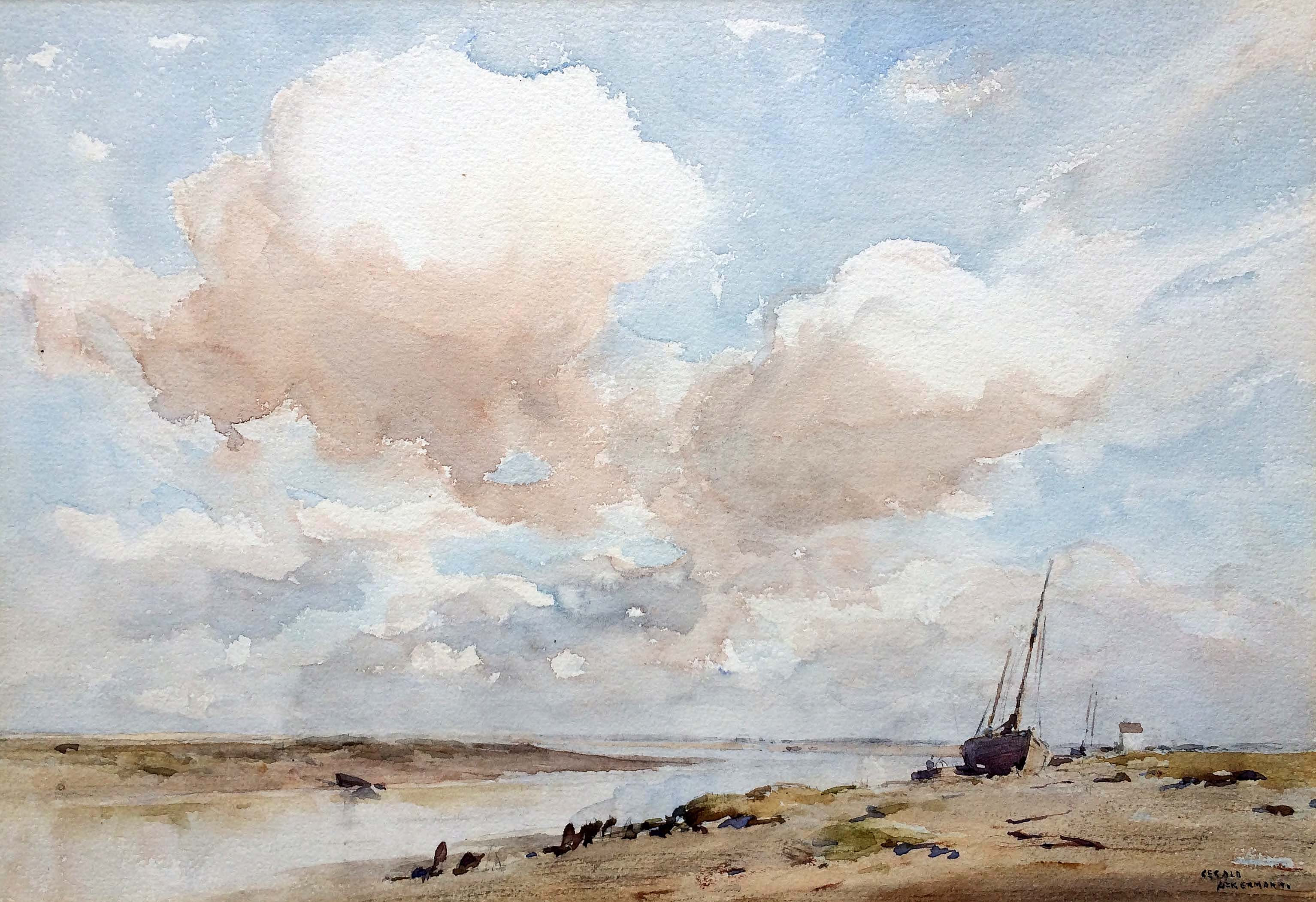 Gerald Ackermann 'Blakeney Channel' Carnes Fine Art