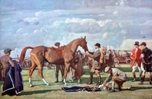 Alfred munnings Signed Lithograph 'The Red Prince Mare' Carnes Fine Art