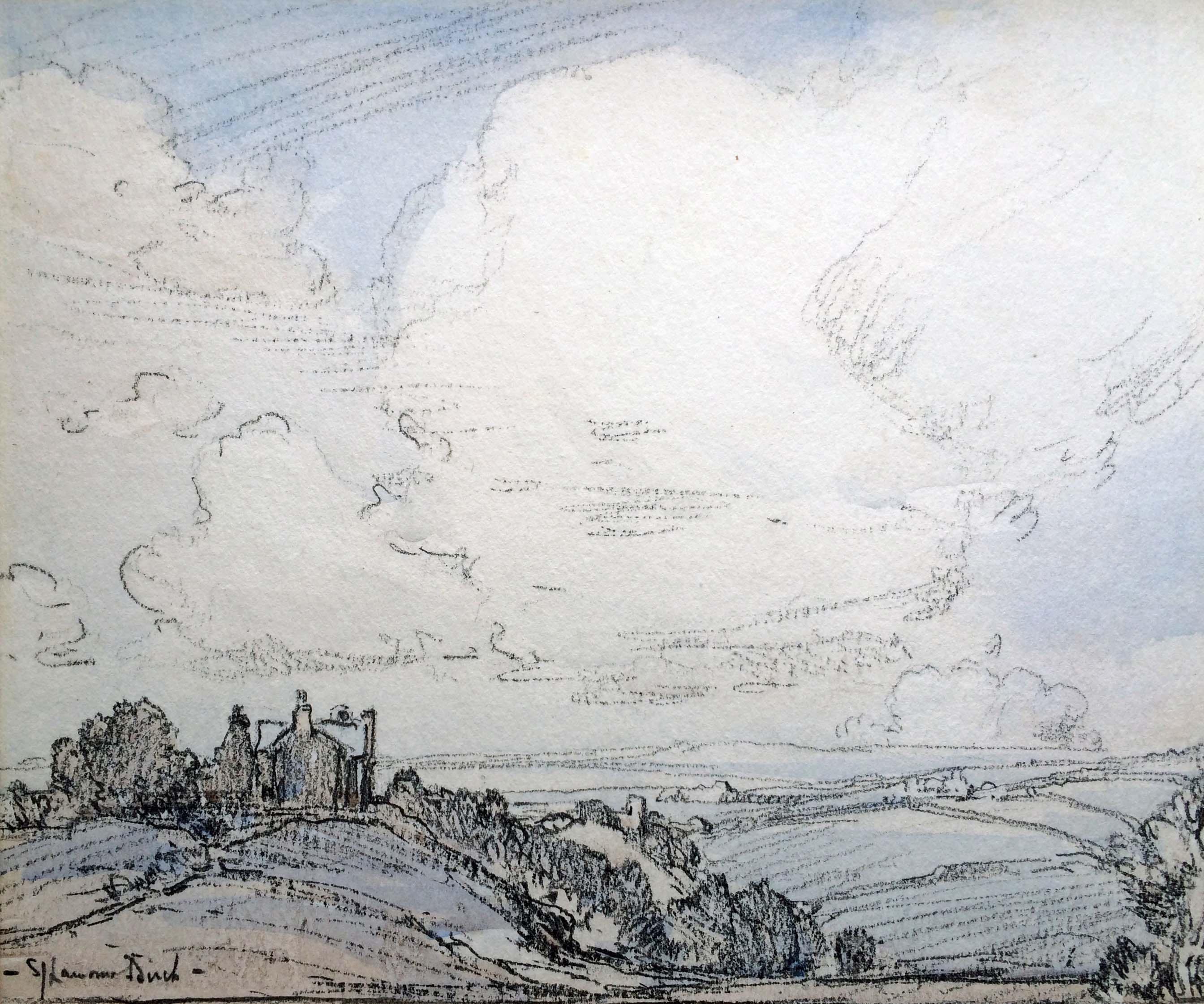 Samuel John Lamorna Birch 'Landcsape watercolour' Carnes Fine Art