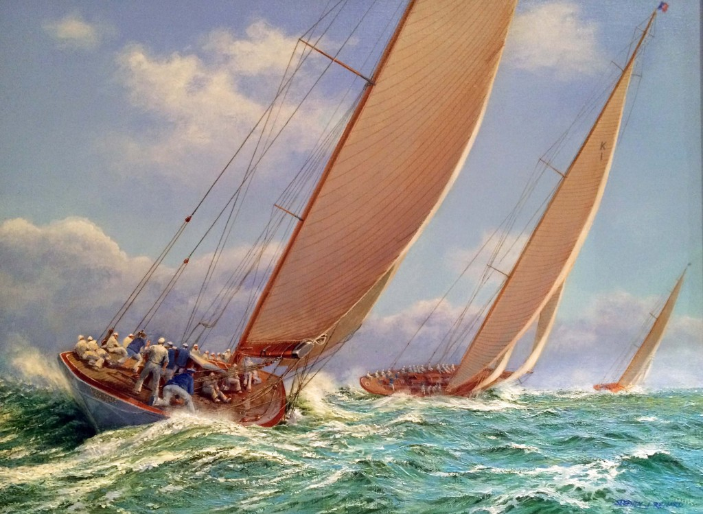 Sailing off Cowes (SOLD)