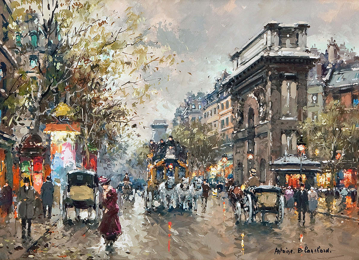 Antoine Blanchard 'Saint-Denis Paris' Carnes Fine Art