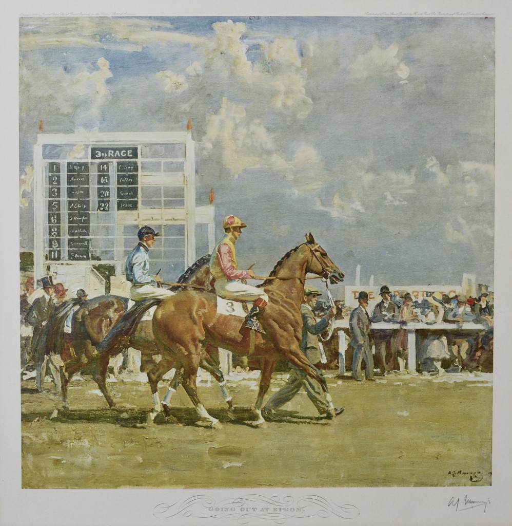 Signed Lithograph 'Going out Epsom' (SOLD)