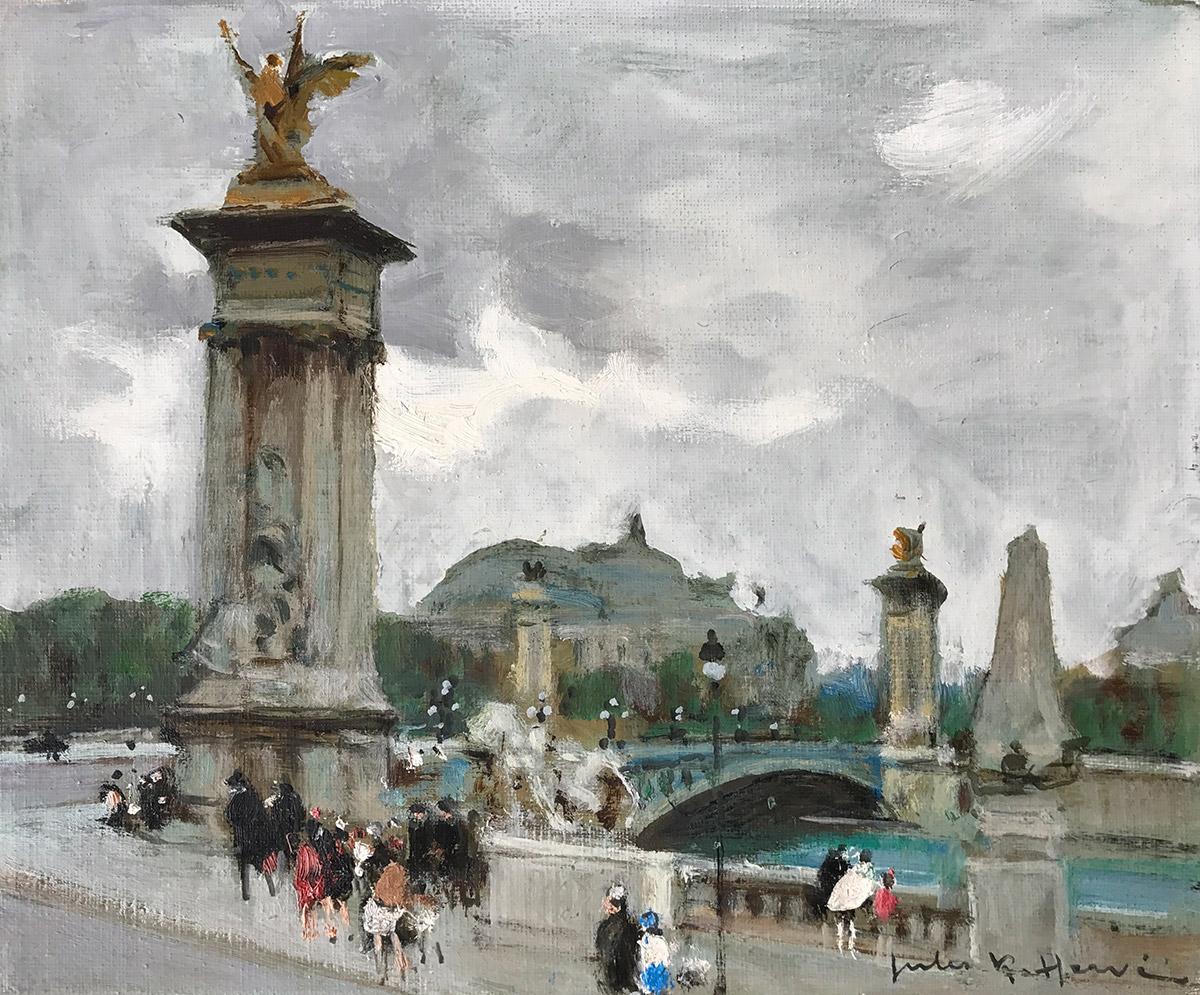 Jules Rene Herve 'Pont Alexandre III' Carnes Fine Art'