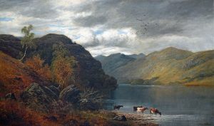 William Mellor Painting 'Derwentwater the Lake District National Park'