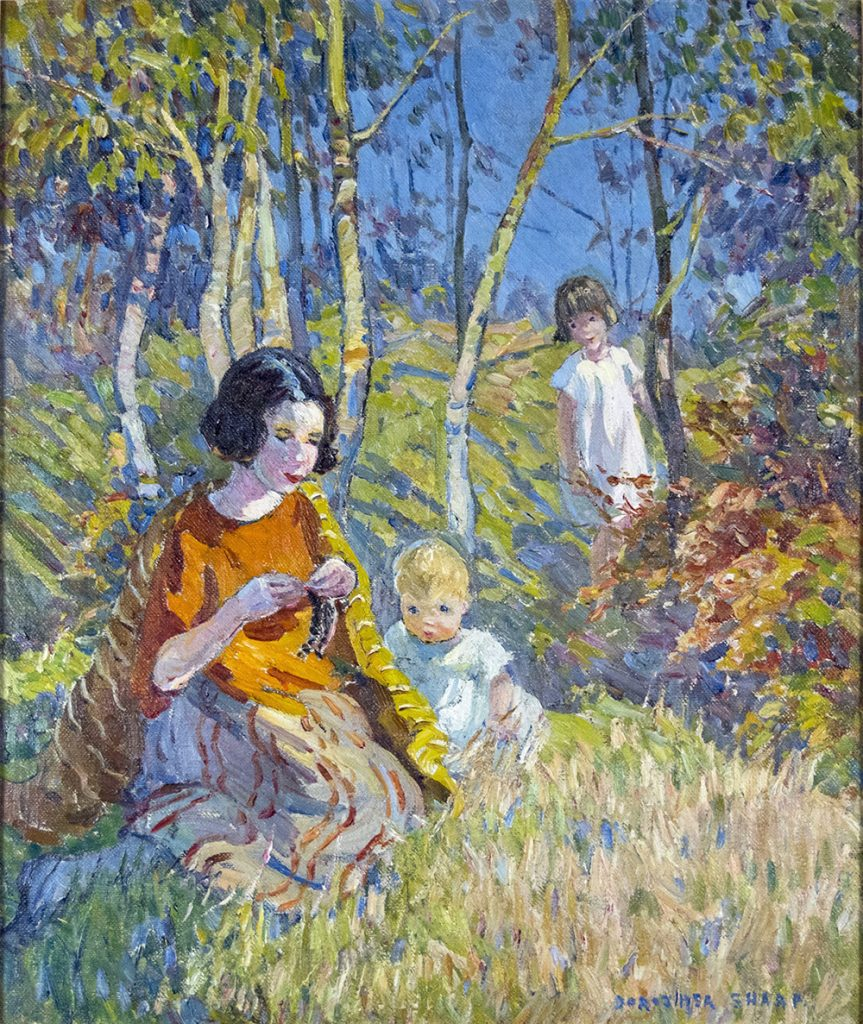 Marcella and Children in the Woods