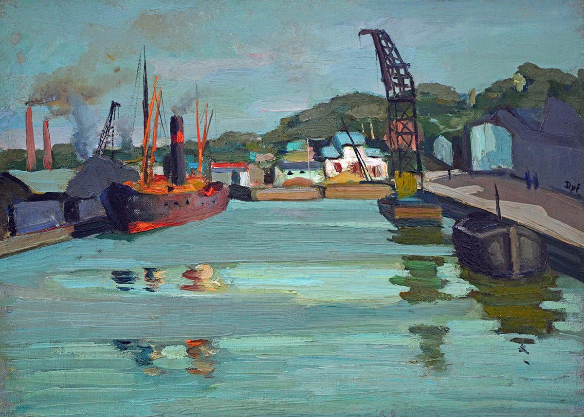 Navires dans le port