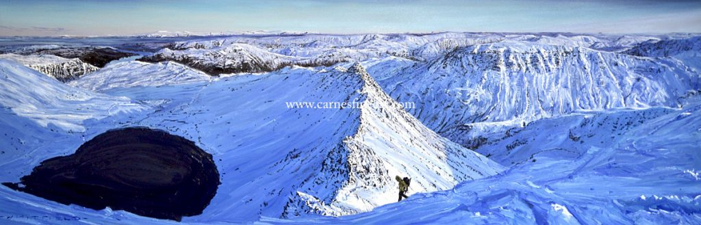 Striding Edge Oil Painting