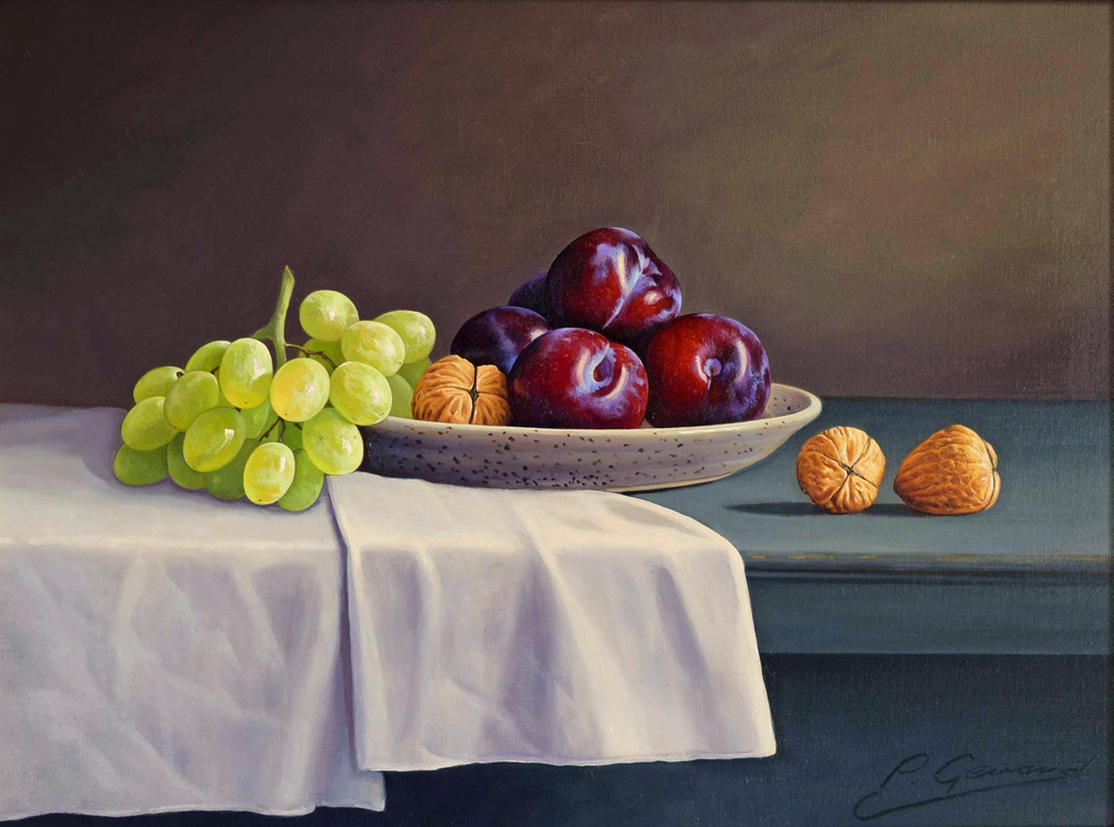 Plums & Fruit Painting