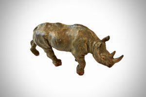 Franz Bergmann Bronze Rhino
