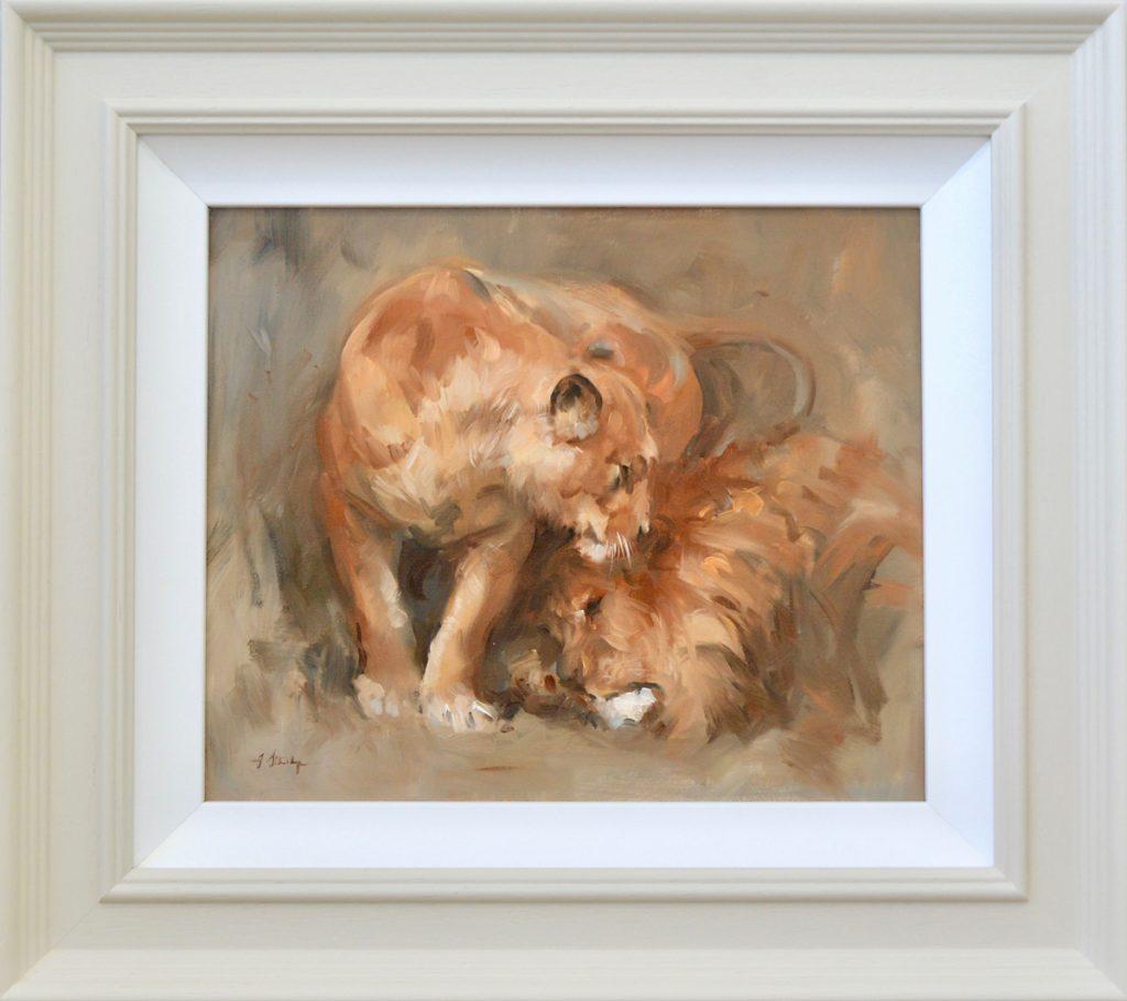Lion Painting - Carnes Fine Art