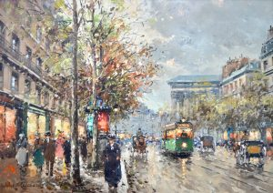 Antoine Blanchard Oil Painting - Carnes Fine Art