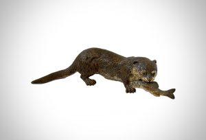 franz bergmann bronze otter