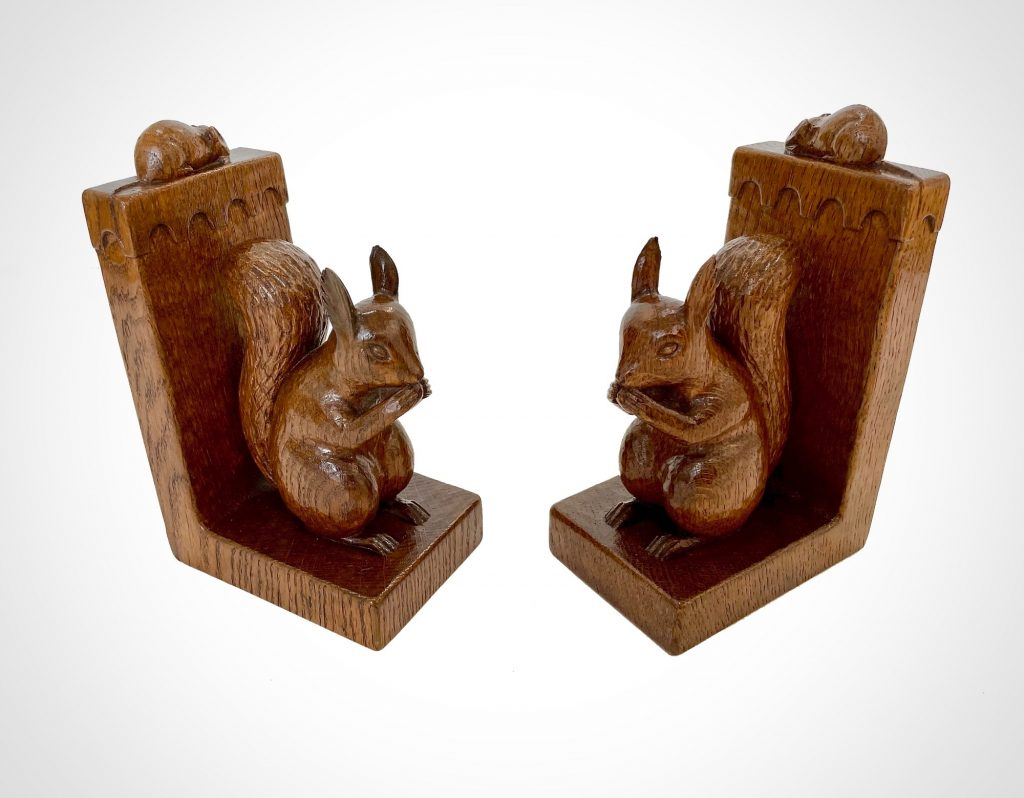 Mouseman Squirrel Bookends